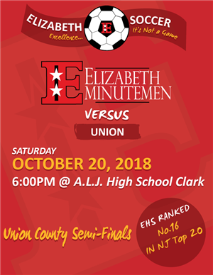 Varsity Boys Soccer-Union County Semi Finals