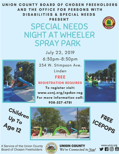 Special Needs Night at Wheeler Spray Park