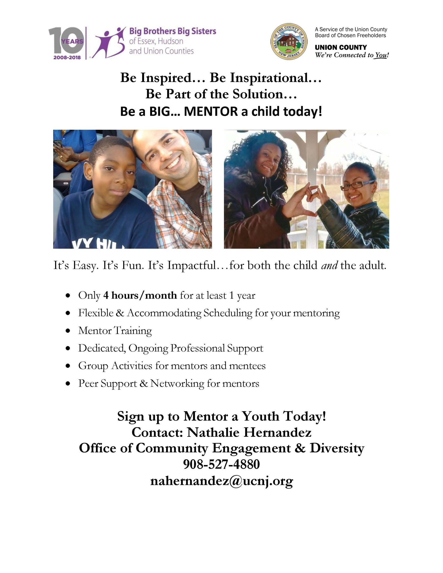 Union County Partnership with Big Brothers Big Sisters Recruitment