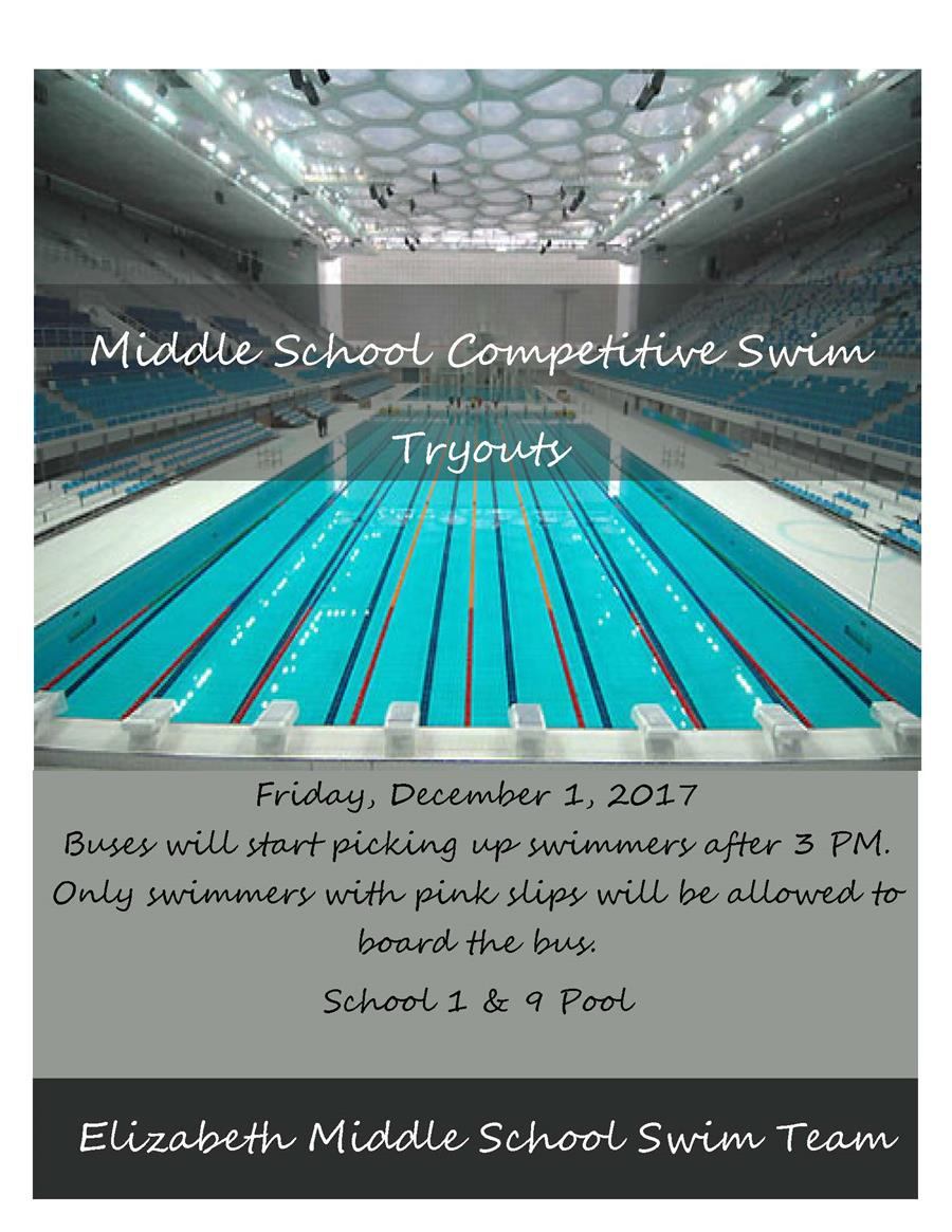 Middle School Competitive Swim Tryouts