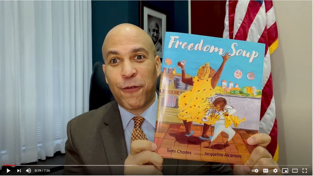 "Senator Cory Booker Reads ""Freedom Soup"" for Read Across America"