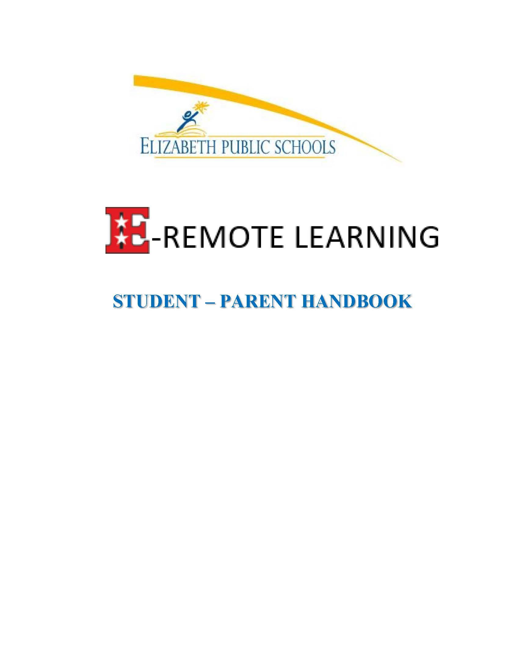 E-Remote Learning – Student Parent Handbook