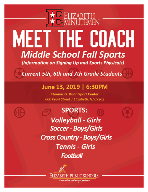 Meet the Coach - Middle School Fall Sports