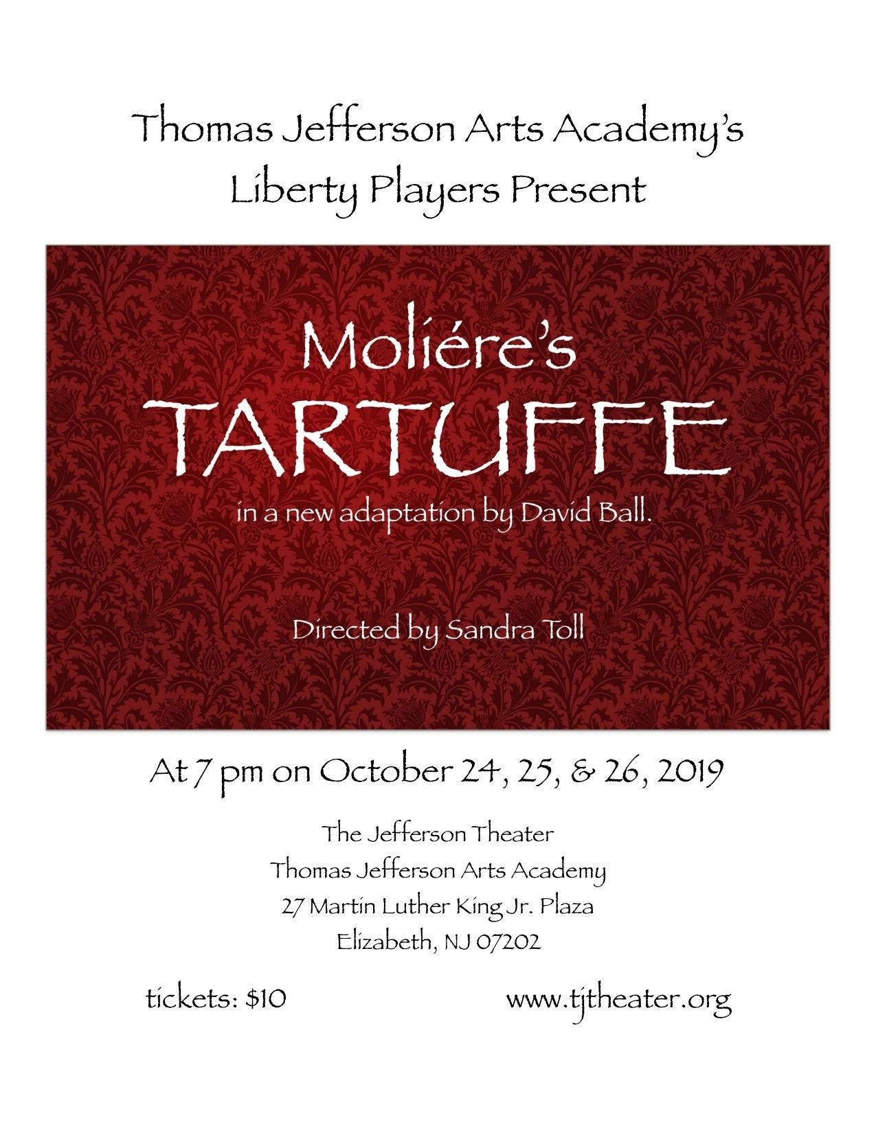 The Liberty Players present Moliere's comedy, Tartuffe
