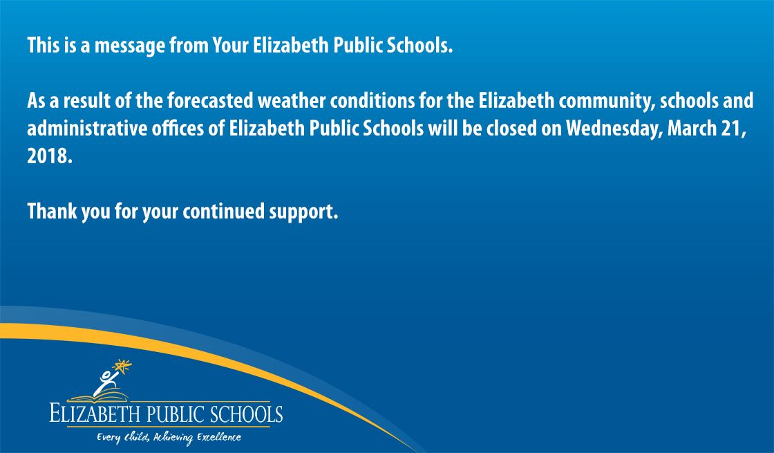 Schools and Administrative Offices Closed 3/21