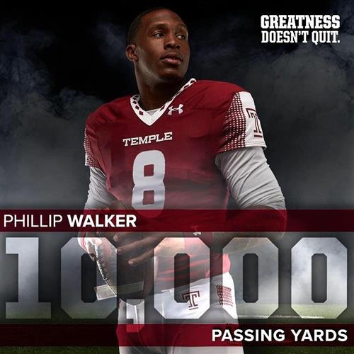 PJ Walker Throws for 10,000 Yards @ Temple