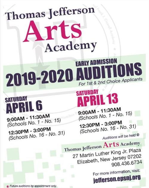 Auditions at Jefferson Arts!